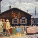 Sold Works: Boris Spornikov - Northern Village, Sangari